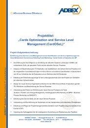 "Projekttitel: ""Cards Optimization and Service Level ... - ADBEX GmbH"