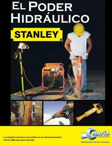 """Catálogo Stanley """"El Poder Hidraulico"""", Noviembre 2007"""
