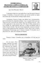 Entrevista a Francesc Camps i Comellas, instrumentista i - Palamós ...
