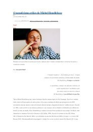 O negativismo crítico de Michel Houellebecq - Alexandre Pilati
