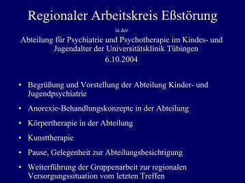 Regionaler Arbeitskreis Eßstörung - Universitätsklinikum Tübingen
