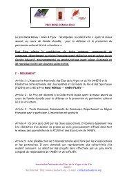 PRIX RENE RENOU 2013 - Association nationale des élus du vin