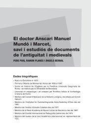 El doctor Anscari Manuel Mundó i Marcet, savi i estudiós de ...