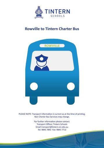 Rowville to Tintern Charter Bus - Tintern Schools
