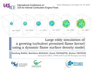 LES of a growing turbulent premixed flame kernel - IFP Energies ...