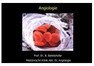 Hauptvorlesung Angiologie Teil I - Arterienerkrankungen