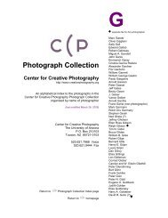 Photograph Collection - Center for Creative Photography