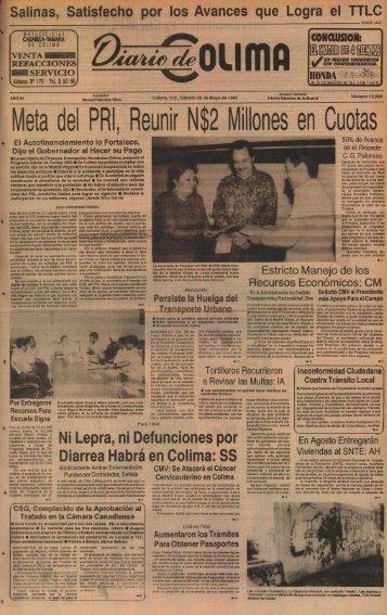 Meta del PRI, Reunir N$2 Millones en Cuotas - Universidad de Colima