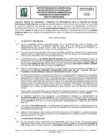 Contrato digitalizado - Portal de compras del IMSS ®Inicio - IMSS