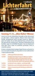 """ab Wismar """"Alter Hafen"""" 16 - 17.30 Uhr - Adler Schiffe"""
