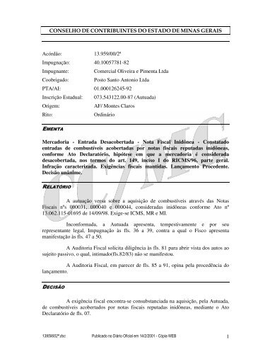Microsoft Word - 13959002\252.doc - Secretaria de Estado de ...