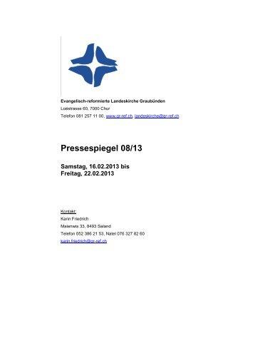 Pressespiegel 08_13 vom 16.02. bis 22.02.2013.pdf - Evangelisch ...