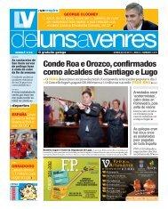 Conde Roa e Orozco, confirmados como alcaldes de Santiago e Lugo