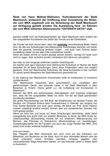MKK-Rede Mattner-Stellmann.pdf - Meerbuscher Kulturkreis eV