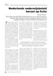 Nederlands onderwijs berust op fictie - Spil