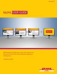 Download Mydhl User Guide