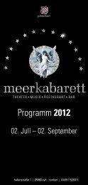 Meerkabarett 2012 Sommer Veranstaltungen 2012