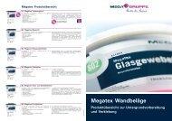 Flyer Megatex Wandbeläge - Mega Malereinkaufsgenossenschaft e.G.