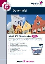 Flyer MEGA 403 Megafan plus PDF Download