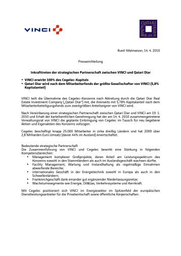 Inkrafttreten der strategischen Partnerschaft zwischen ... - Actemium