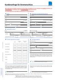 Kundenanfrage für Stromanschluss - MEGA Monheimer Elektrizitäts