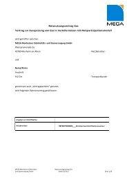 Netznutzungsvertrag Gas nach KoV V - MEGA Monheimer Elektrizitäts