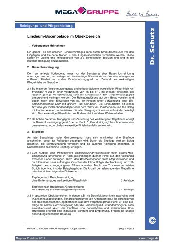 Linoleum-Bodenbeläge im Objektbereich - MEGA ...