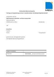 Lieferantenrahmenvertrag Gas - MEGA Monheimer Elektrizitäts