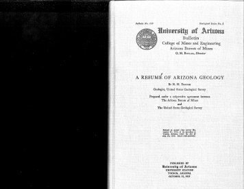 A Resume of Arizona Geology - AZGS Document Repository