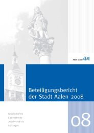 Beteiligungsbericht der Stadt Aalen 2008 (pdf, 1,4