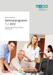 BNW Seminarprogramm 1/2012 - ADK