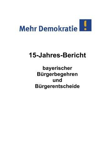 15-Jahres-Bericht bayerischer - Mehr Demokratie eV