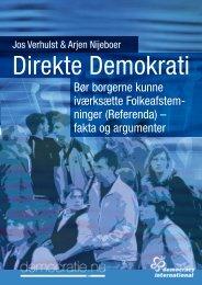 Jos Verhulst & Arjen Nijeboer Direkte demokrati Bør borgerne kunne ...