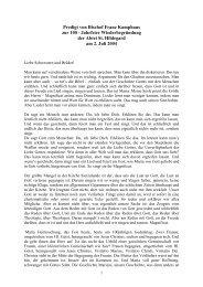 Predigt von Bischof Franz Kamphaus zur 100 ... - Abtei St. Hildegard
