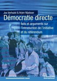 faits et arguments sur l'introduction de l'initiative et du référendum