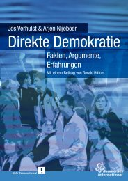 Fakten, Argumente, Erfahrungen - Democracy International