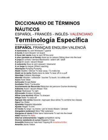Diccionario de términos náuticos Español ... - Optimist Valencia