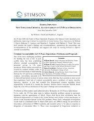 Criminal Accountability in UN Peace Operations - The Stimson Center