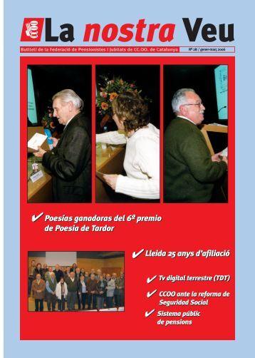 Poesías ganadoras del 6º premio de Poesia de - CCOO de Catalunya