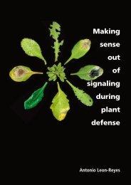 Making sense out of signaling during plant defense - Universiteit ...