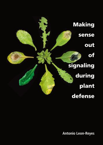 Making sense out of signaling during plant defense - Universiteit ...