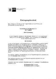 Eintragungsbescheid - Automobilclub Nordfriesland
