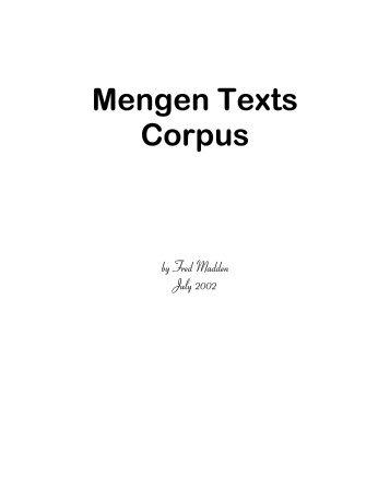 Mengen Text Corpus