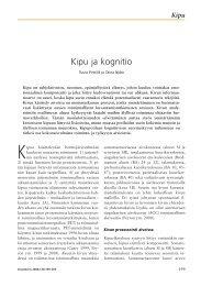 Kipu ja kognitio - Duodecim