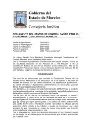 Gobierno del Estado de Morelos Consejería Jurídica