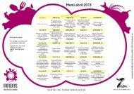 Menú abril 2013 - Associació de mares i pares d'alumnes de l ...