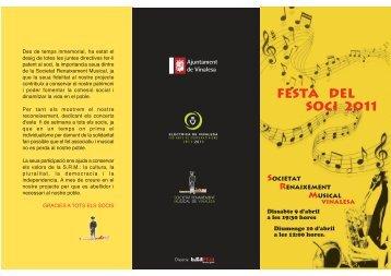 FESTA DEL SOCI 2011 - societat renaixement musical de vinalesa