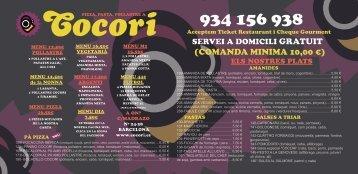 (COMANDA MINIMA 10,00 €) - Cocori
