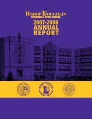 2007-2008 Annual Report - Bishop Loughlin Memorial High School