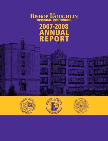 2007-2008 Annual Report - Bishop Loughlin Memorial High School